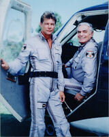 Airwolf TV series 8x10 photo Jan Michael Vincent Ernest Borgnine by helicopter