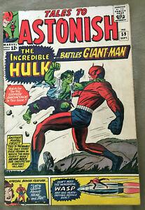 1964 Marvel Tales To Astonish #59 Silver Age Comic Book HULK, AVENGERS IRON MAN!