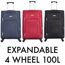 """29"""" Large Suitcase 4 Wheel Lightweight Luggage Soft Expandable Travel Case Big"""