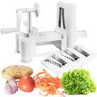 Goplus Tri-blade Plastic Spiral Vegetable Slicer Spiralizer Cutter Kitchen New