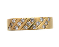 18CT GOLD DIAMOND BAND RING