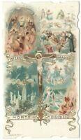 Santino Fustellato Gesù Crocifisso Pia Lega Riparatrice con Preghiera del soldat