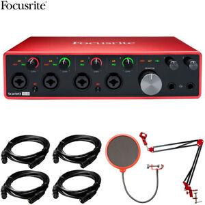 Focusrite Scarlett 18i8 3rd Gen 18in/8out USB Audio Interface +Accessories Kit