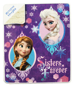 Kids Winter Thick Sherpa Throw Lambswool Mink Blanket - Frozen Anna & Elsa