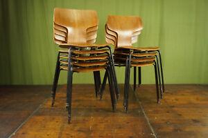 Vintage Teak Stuhl Arne Jacobsen 3103 Hammer Chair Stapelstuhl Fritz Hansen 1