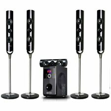 beFree 5.1 Channel Surround Sound Streaming Bluetooth Speaker System USB FM SD