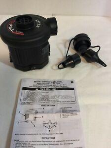 INTEX QUICK FILL 06C AIR MATTRESS PUMP BATTERY OPERATED Model AP638 W/ 3 Nozzles