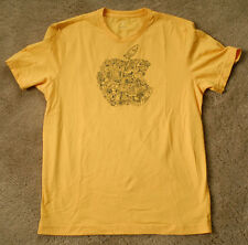 APPLE yellow t shirt size S short sleeve