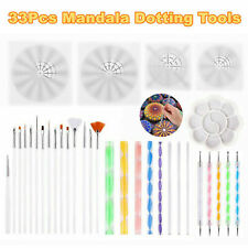 33PCS Mandala Punteggi strumenti per penna da pittura rock kit