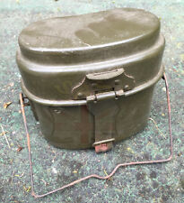 GERMAN ARMY SURPLUS ISSUE 2pc ALUMINIUM MESS TIN COOKING SET-CADET/SURVIVAL/DE