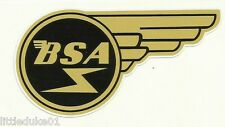 """""""BSA WING"""" VINYL DECAL / STICKER NORTON TRIUMPH MOTORCYCLE WORKSHOP ARIEL"""