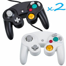 2 Brand New Controller for Nintendo GameCube or Wii -- BLACK and White