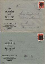 Sächs. densité AP 786 I (2) par EF banques lettres Chemnitz 1x BPP-vérifié (b06715)