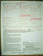 10-pack -- 2015 IRS Tax Form W-3 Transmittals ONLY (for sending W2s to SSA)