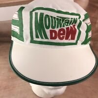 Vintage Mountain Dew Soda Pop stretch adjust painters Cap Hat Or Factory Workers