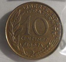 10 centimes marianne 1967 : SUP : pièce de monnaie française