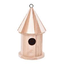 Wooden Bird House Birdhouse Hanging Nest Nesting Box W/ Hook Home Garden DecorS8