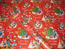 Christmas Mickey Mouse Wrapping Paper