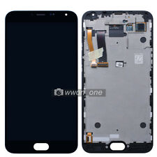 """Black 5.5"""" Meizu MX5 M575 AMOLED LCD Display Touch Digitizer Assembly W/Frame"""