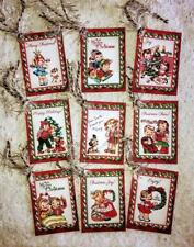Set of 9 Hang Tags~Vintage Christmas Kids~Gift Tags~Scrapbooking~Card's~#108T