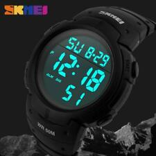 Skmei Digital Watch Large Clear Display 50m Water Resistant Sports Style Alarm