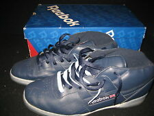 Reebok Men's Workout Mid Ice Athletic Sneakers Shoes Size 13 Navy White