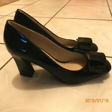 """KELSI Dagger """"Molly"""" Women's Black Patent Leather Pumps with Bow 7 M"""