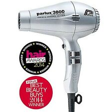 Parlux 3800 Ceramic Ionic Eco Friendly Hairdryer Silver