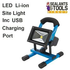 Re-Chargable Li-ion Cordless LED Site Work Light with USB Charger 12v & 240 Volt