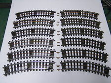 12 - LIONEL #31 SUPER O CURVED TRACK WITH ALL RAIL PINS & BUS BAR CLEANED