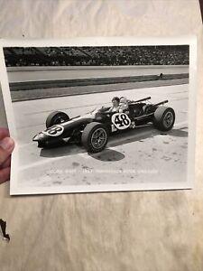 Original Jochen Rindt 1967 Indy 500 Motor Speedway Signed Racing Photo Autograph