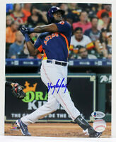 YORDAN ALVAREZ SIGNED AUTOGRAPHED 8x10 ASTROS PHOTO BECKETT ROOKIE BAS R27753