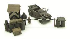 Blitz72 1:72 Blitz72 diorama set German Kübelwagen, Guard Post w/Soldier & dog