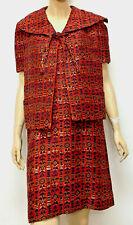 Vintage 60s Pauline Trigere Blums Vogue Dress + Matching Jacket Coat Set