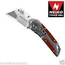3 New Neiko Heavy Duty Folding Utility Knives Quick Change Blade Box Cutters