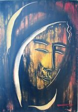GIANDANTE X (Pescò Milano 1899-1984) VOLTO encausto su cartone cm35x50 anno 1963