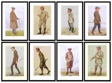 VANITY  FAIR  GOLF  PRINTS  -  A  SET  OF  8  FANTASTIC  GOLFERS  (REPRINTS)
