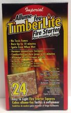 24 Pack Fire Starter Squares For Weber Smokey Mountain WSM Coal Pit Food Safe