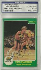 1983-84 Star TOM CHAMBERS rookie card # 195 [ AUTOGRAPH ] PSA/DNA CERTIFIED!