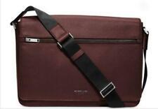 Michael Kors Men's Harrison Leather Large Messenger Computer Bag - Oxblood.