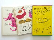 """ANDY WARHOL RARE 1987 1ST ED """"25 CATS NAME SAM"""" COLLECTOR'S SLIPCASE 2 BOOK SET"""