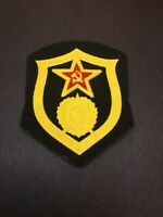 NOS Soviet Chemical Warfare Troops Black Patch Badge Sleeve Uniform Red Army