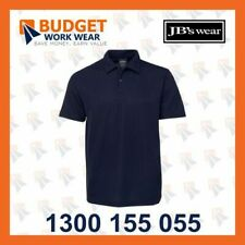JB'S Adults Waffle Sport Polo (7WP) in Black, Navy
