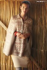 Anthropologie Madchen Flowering Pompona Cape Sweater Coat Cardigan SMALL