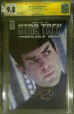 """Star Trek: Boldly Go #11 photo cover_CGC 9.8 SS_Signed by Zachary Quinto """"Spock"""""""
