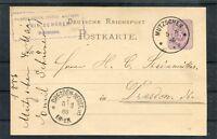 Ganzsache Deutsche Reichspost 5 Pfg. Mutzschen-Dresden - b4753