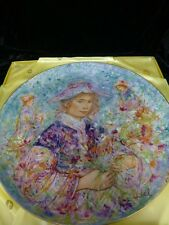"Edna Hibel ""Flower Girl Of Provence"" Commemorative Plate *Limited Edition*"