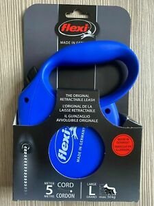 Flexi Retractable CORD Dog Lead BLUE SMALL DOG  New Classic  Design  UP TO 12KG