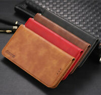 For iPhone 7 Plus XS Max X 6s 8 Leather Wallet Flip Case Cover Stand Card Holder