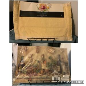 Machine Washable (4) CYNTHIA ROWLEY 100% Cotton & (4) 100% Polyester  PLACEMATS